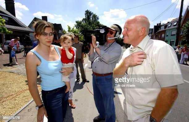 Tour De France 2004 Ullrich Gabby Wife Femme Vrouw Sarah Ullrich Dauchter Dochter Fille Rudy Pevenage Stage Etape Rit 3 Waterloo Wasquehalronde Van...