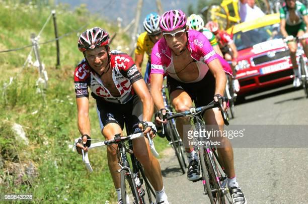 Tour De France 2005, Stage 14 Basso Ivan , Ullrich Jan , Armstrong Lance Yellow Jerseyagde - Ax-3-Domainesetape Ritronde Van Frankrijk, Tdf, Uci Pro...