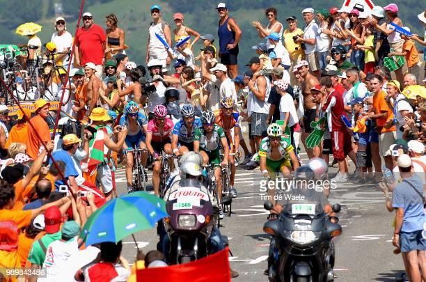 Tour De France 2005, Stage 15 Pereiro Oscar , Caucchioli Pietro , Boogerd Michael , Hincapie George , Sevilla Oscar , Brochard Laurent , Illustration...