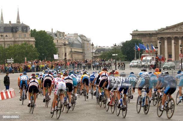 Tour De France 2005, Stage 21Illustration Illustratie, Peleton Peloton, Place De La Concorde, Armstrong Lance Yellow Jerseycorbeil-Essonnes - Paris...