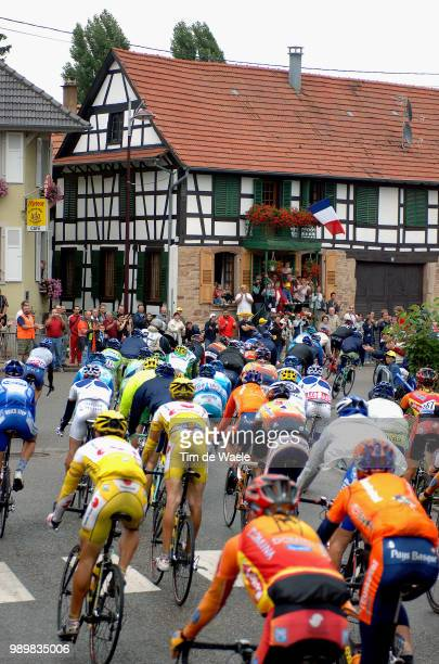 Tour De France 2005, Stage 7Illustration Illustratie, Peleton Peloton, Landscape Paysage Landschaplunã©Ville - Karlsruhe Etape Ritronde Van...