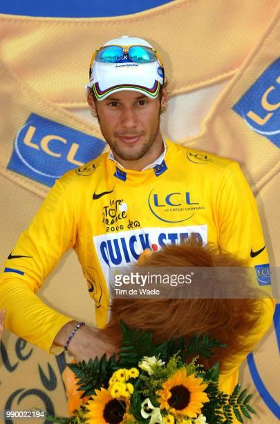Tour De France 2006, Stage 5Podium, Boonen Tom Yellow Jersey, Celebration Joie Vreugdebeauvais - Caen Etape Rit, 93E Ronde Van Frankrijk Uci Pro...