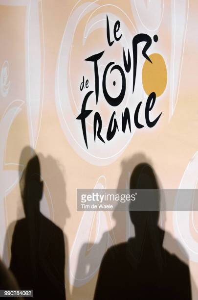 Tour De France 2007, Pc Rasmussenillustration Illustratie Shadow Hombre Schaduw, Michael Rasmussen Presse Persconferentie, De Rooy Theo Manager Team...