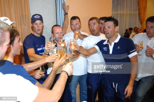 Tour De France 2007 Stage 12Team Qsi QuickStep Innergetic Celebration Joie Vreugde Party Feest Tom Boonen Victory Tosatto Matteo Peeters Wilfried...