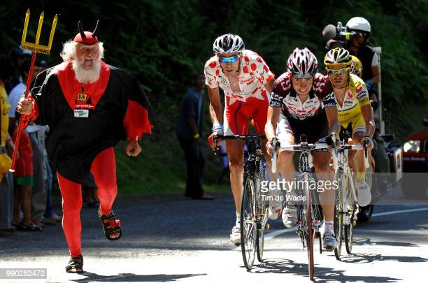 Tour De France 2007 Stage 16Sastre Carlos Mayo Iban Soler Hernandez Juan Mauricio Didi Senf Devil Diable Duivel Orthez GouretteCol D'Aubisque Ronde...