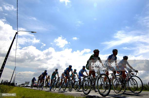 Tour De France 2007, Stage 2Illustration Illustratie, Peleton Peloton, Silhouet, Sky Ciel Hemel Lucht, Voeckler Thomas /Dunkerque - Gent , Duinkerke,...