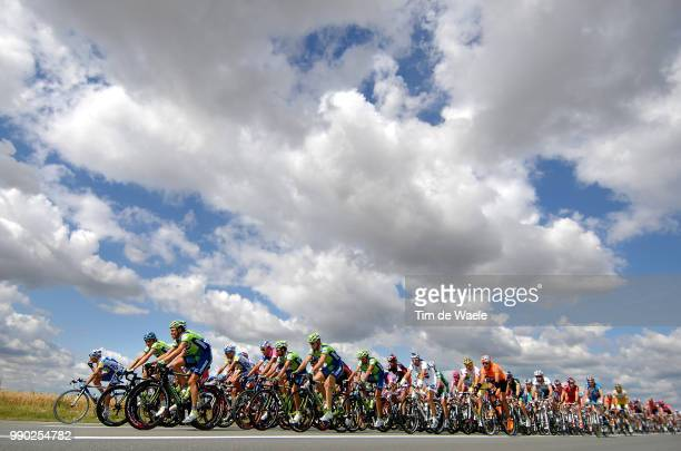 Tour De France 2007, Stage 3Illustration Illustratie, Clowds Nuages Wolken Sky Ciel Lucht, Peleton Peloton, Landscape Paysage Landschap, Waregem -...