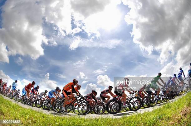 Tour De France 2007, Stage 3Illustration Illustratie, Clowds Nuages Wolken Sky Ciel Lucht, Peleton Peloton, Landscape Paysage Landschap /Waregem -...