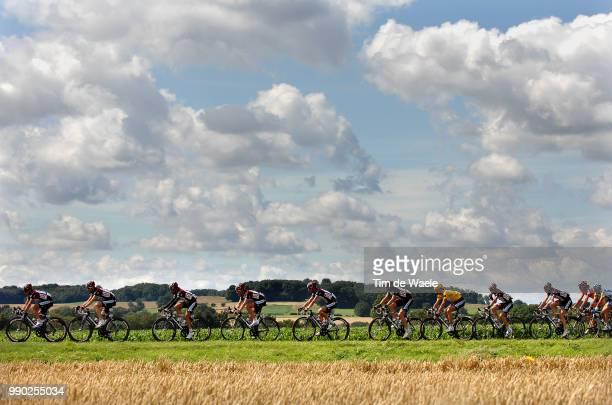 Tour De France 2007, Stage 3Illustration Illustratie, Peleton Peloton, Corn Field Champs Korenveld, Clowds Sky Ciel Lucht Nuages Wolken, Landscape...