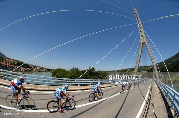 Tour De France 2007, Stage 7Illustration Illustratie, Bridge Pont Brug, Peleton Peloton, Landscape Paysage Landschap, Team Ag2R, Moreau Christophe...