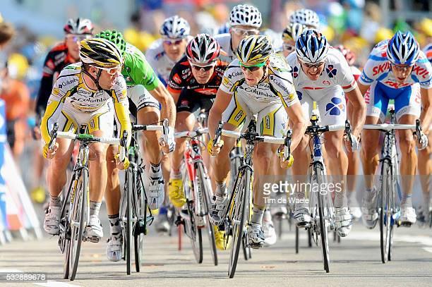 Tour de France 2009 / Stage 14 Arrival Sprint / CAVENDISH Mark / HUSHOVD Thor Green Jersey / RENSHAW Mark / HUTAROVICH Yauheni / ROJAS Jose Joaquin /...