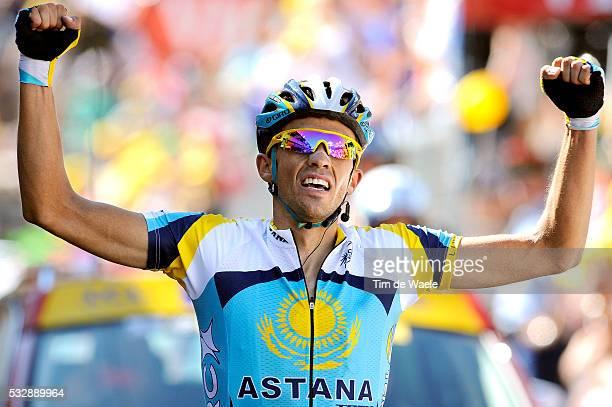 'Cycling Tour de France 2009 / Stage 15 Arrival / CONTADOR Alberto Celebration Joie Vreugde/ Pontarlier Verbier / Rit Etape / TDF / Ronde van...