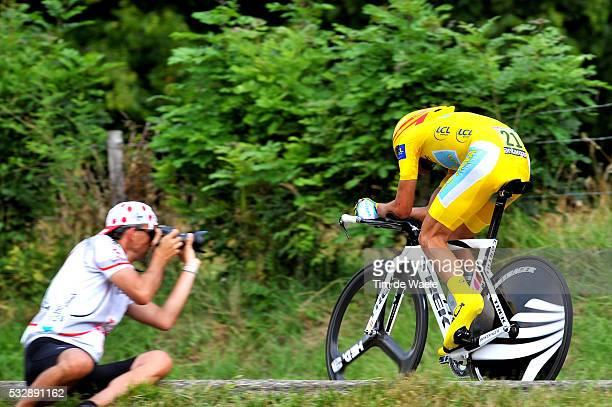 'Cycling Tour de France 2009 / Stage 18 CONTADOR Alberto Yellow Jersey / Annecy Annecy / Time Trial / Contre la Montre / Tijdrit / Rit Etape / TDF /...