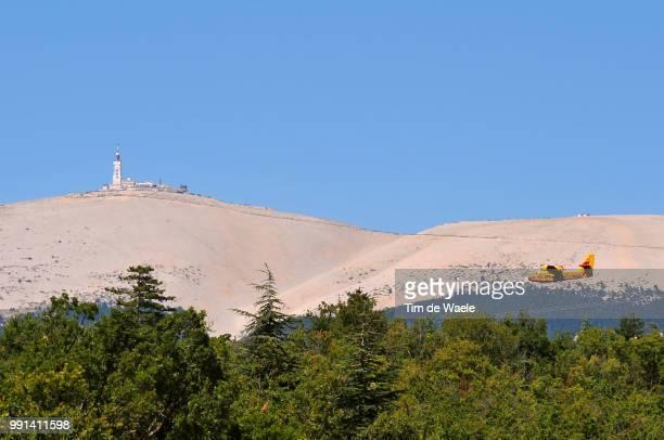 Tour De France 2009, Stage 20Illustration Illustratie, Fire Plain Avion Vliegtuig, Mont Ventoux, Landscape Paysage Landschap, Feux Vuur, Montelimar -...
