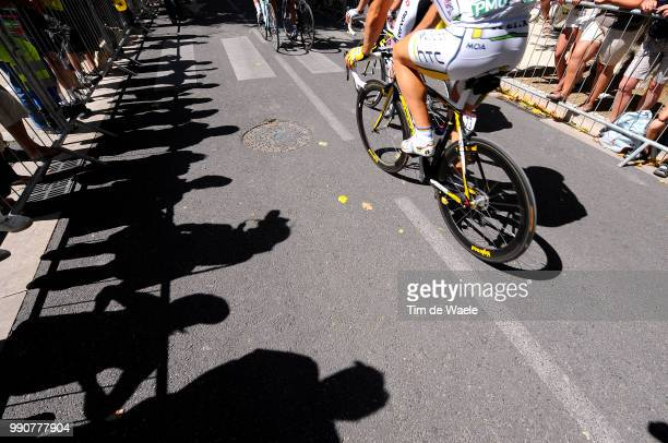 Tour De France 2009, Stage 20Illustration Illustratie, Silhouet Public Publiek Spectators, Sadow Hombre Schaduw, Montelimar - Mont Ventoux , Rit...