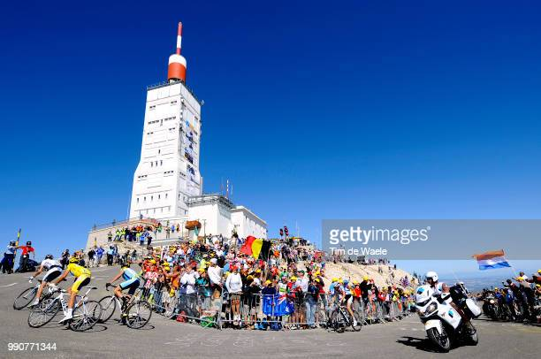 Tour De France 2009, Stage 20Schleck Andy White Jersey, Contador Alberto Yellow Jersey, Armstrong Lance / Frank Schleck , Mont Ventoux, Illustration...