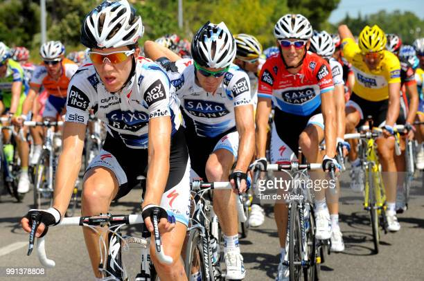 Tour De France 2009 Stage 3Sorensen Chris Anker / O'Grady Stuart / Schleck Frank /Marseille La GrandeMotte Rit Etape Tdf Tim De Waele