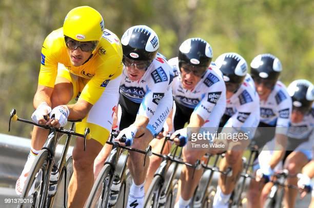 Tour De France 2009 Stage 4Team Saxo Bank Cancellara Fabian Yellow Jersey Schleck Andy / Arvesen KurtAsle / Larsson Gustav / O'Grady Stuart / Schleck...