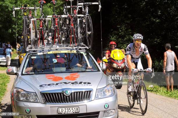 Tour De France 2009 Stage 8Thor Hushovd Skoda Car Voiture Auto AndorreLaVielle SaintGirons Rit Etape Tdf Tim De Waele