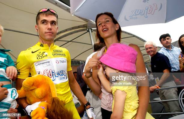 Tour De France Stage 1 Mc Gee Bradley Maillot Jaune Yellow Jersey Gele Trui Sharni Wife Femme Vrouw Thalia Dauchter Fille Dochter SaintDenis...