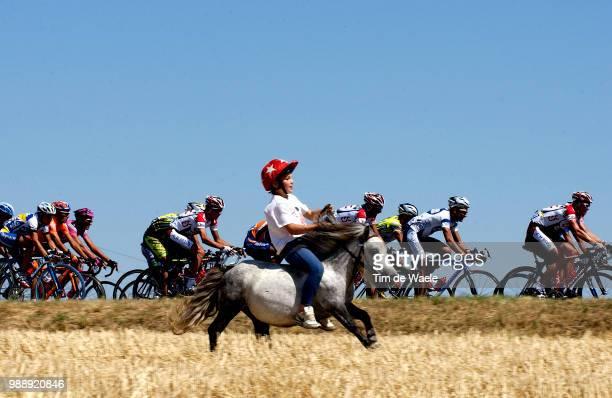 Tour De France, Stage 13, Illustration, Illustratie, Peleton, Peloton, Fans, Supporters, Cheveaux, Cheval, Toulouse - Ax-3 Domaines, Ronde Van...