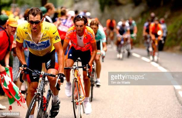 Tour De France, Stage 15, Armstrong Lance, Maillot Jaune, Yellow Jersey, Gele Trui, Mayo Iban, Ullrich Jan /Bagneres-De-Bigorre - Luz-Ardiden , Ronde...