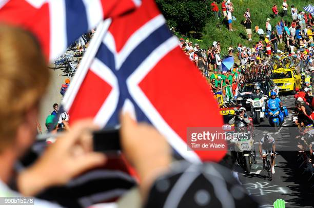 Tour De France Stage 17Sastre Carlos Illustration Illustratie Spectators Public Publiek Supporters Fans AlpeD'Huez Embrun L'AlpeD'Huez /Ronde Van...