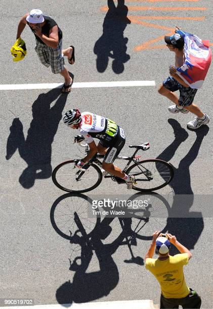 Tour De France Stage 17Sastre Carlos Illustration Illustratie Spectators Public Publiek Supporter Fans Shadow Hombre Schaduw /Embrun L'AlpeD'Huez...