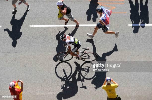 Tour De France, Stage 17Sastre Carlos , Illustration Illustratie, Spectators Public Publiek Shadow Hombre Schaduw /Embrun - L'Alpe-D'Huez /Ronde Van...
