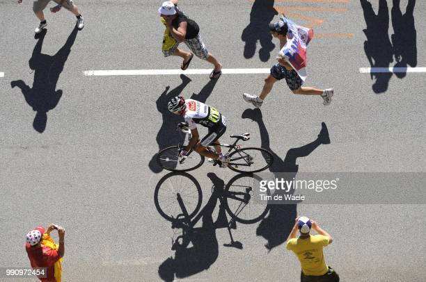 Tour De France Stage 17Sastre Carlos Illustration Illustratie Spectators Public Publiek Shadow Hombre Schaduw /Embrun L'AlpeD'Huez /Ronde Van...