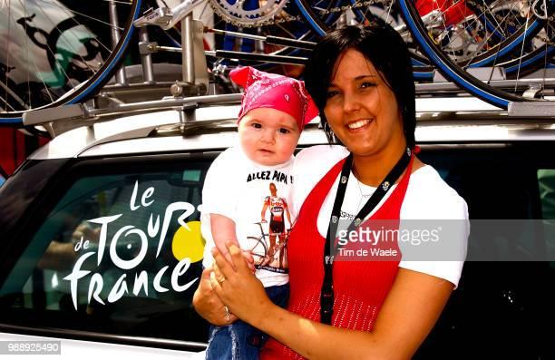 Tour De France Stage 3 Brandt Christophe Family Famille Family Alisson Wife Femme Vrouw Emma Daughter Fille Dochter CharlevilleMezieres SaintDizier...
