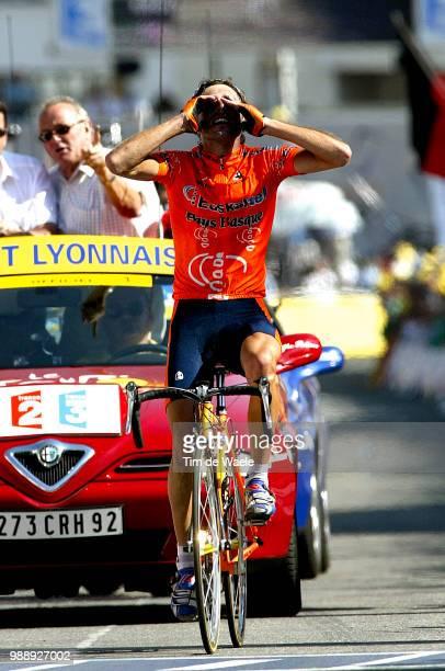 Tour De France, Stage 8, Mayo Iban, Joie, Celebration, Vreugde, Sallanches - L'Alpe D'Huez /Ronde Van Frankrijk 2003 , 100 Ans, Jaar, Year, Etape,...