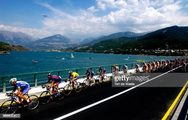 Tour De France, Stage 9, Illustration, Illustratie, Peleton, Peloton, Landscape, Landschap, Paysage, Lake, Lac, Meer, Armstrong Lance, Maillot Jaune,...