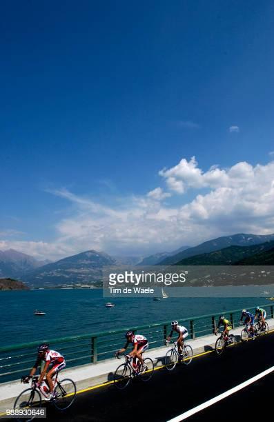 Tour De France, Stage 9, Illustration, Illustratie, Peleton, Peloton, Paysage, Landscape, Landschap, Lake, Lac, Meer, Verbrugghe Rik, Baguet Serge,...