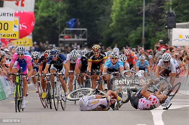 Tour de Suisse 2010 / Stage 4 Arrival Sprint / CAVENDISH Mark / HAUSSLER Heinrich Mountain Jersey / Crash Chute Val / PETACCHI Alessandro / BOONEN...