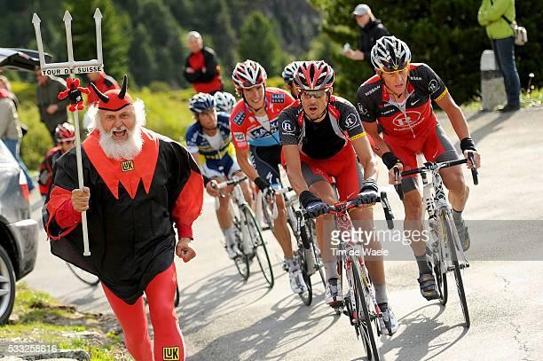Tour de Suisse 2010 / Stage 6 ARMSTRONG Lance / KLODEN Andreas / Andy SCHLECK / Didi SENF Devil Diable Duivel / Meiringen La Punt / Etape Rit / Tim...