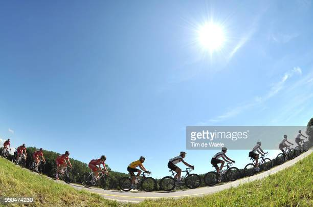 Tour De Suisse, Stage 7Illustration Illustratie, Peleton Peloton, Silhouet Shadow Schaduw, Landscape Paysage Landschap, Team High Road, Kim Kirchen...
