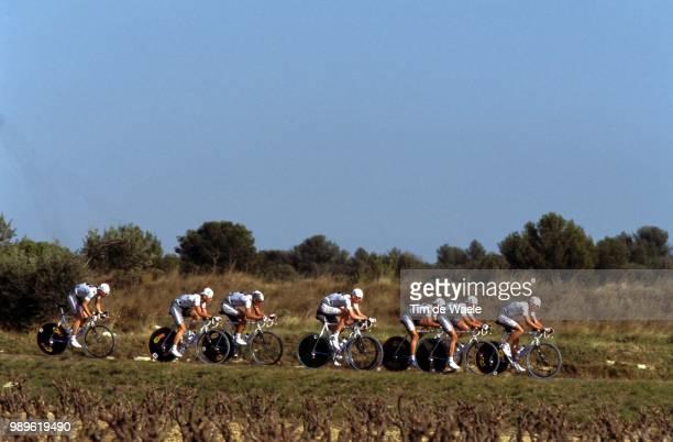 Tour Mediterraneen 2002 /La Francaise Des Jeux, Team Time Trial, Contre La Montre Par Equipe, Tijdrit Ploegen, Illustration, Illustratie,