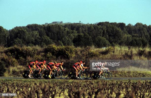 Tour Mediterraneen 2002 /Lotto, Team Time Trial, Contre La Montre Par Equipe, Tijdrit Ploegen, Illustration, Illustratie,
