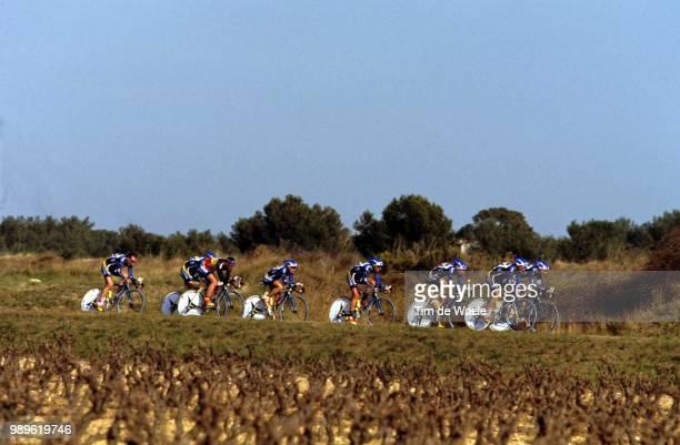 Tour Mediterraneen 2002 /Team Time Trial, Contre La Montre Par Equipe, Tijdrit Ploeg, Ag2R Prevoyance, Illustration, Illustratie,