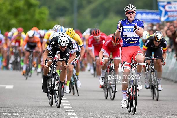 Tour of Belgium 2015/ Stage 4/ Arrival Sprint / Tom BOONEN / Arnaud DEMARE / Celebration Joie Vreugde / Jens DEBUSSCHERE / Cerfontaine Lacs De L'eau...
