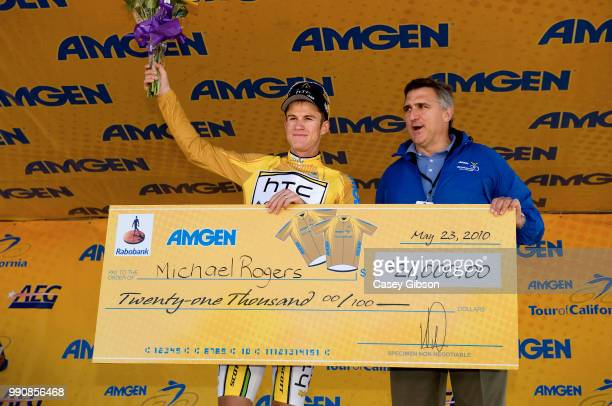 Tour Of California 2010 Stage 8Podium Michael Rogers Yellow Jersey Celebration Joie Vreugde Thousand Oaks Westlake Village Agoura Hills Ronde Rit...