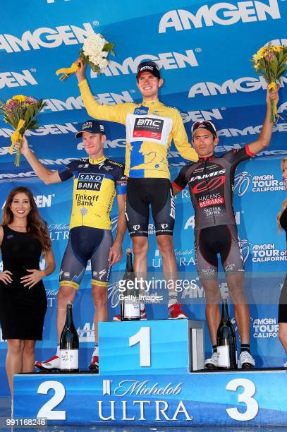 Tour Of California 2013 Stage 8Podium/ Michael Rogers / Tejay Van Garderen Yellow Leader Jersey Janier Alexis Acevedo / Celebration Joie Vreugde/San...