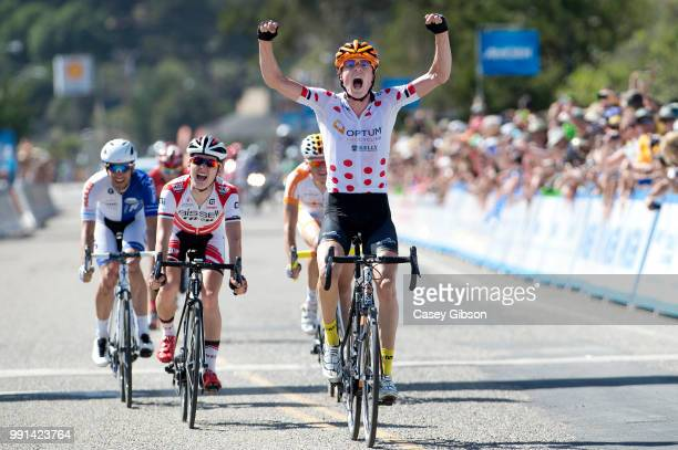 Tour Of California 2014/ Stage 4Arrival/ William Routley Celebration Joie Vreugde/ Gregory Daniel / Kevin De Masmaeker / Christopher Jones...