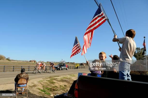Tour Of California Stage 5Illustration Illustratie Usa Fans Supporters Matthew Crane Cameron Evans Pieter Weening Geln Chadwick /Visalia Paso Robles...