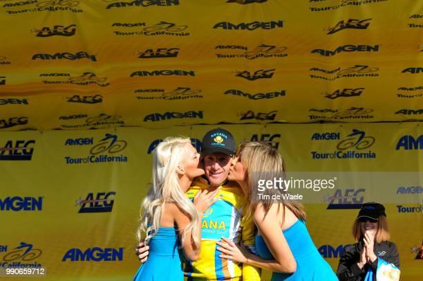Tour Of California Stage 5Podium Levi Leipheimer Yellow Jersey Celebration Joie Vreugde /Visalia Paso Robles /Ronde Rit Etape Tim De Waele