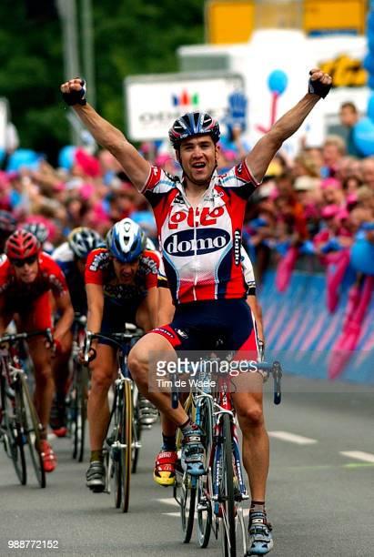 Tour Of Germany 2003 Van Bon Leon Joie Celebration Vreugde Stage 3 Coburg Ansbach Deutschland Tour Tour D'Allemagne Ronde Van Duitsland Etape