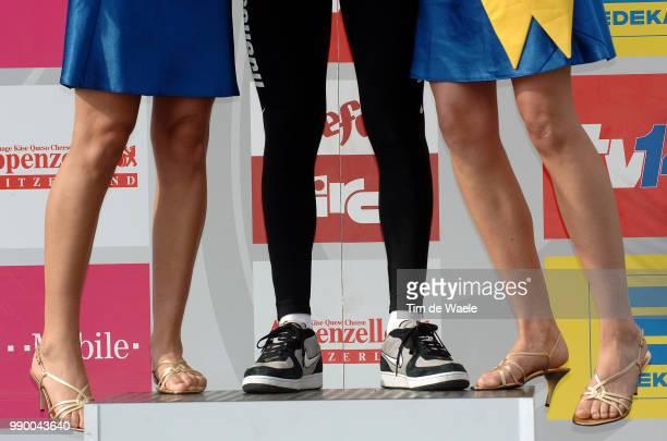 Tour Of Germany Stage 3Podium Illustration Illustratie Podium Miss Hostes Gusev Vladimir Yellow Jersey Celebration Joie Vreugdestage 3 Witzenhausen...