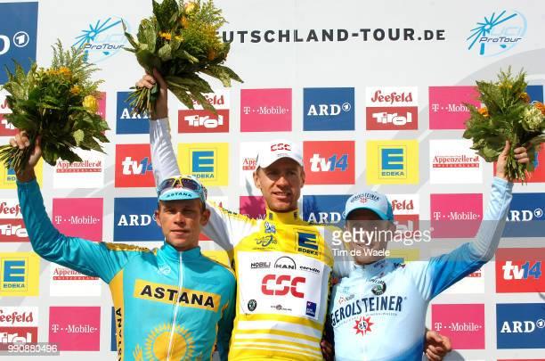 Tour Of Germany Stage 8Podium Kashechkin Andrey / Voigt Jens Yellow Jersey Leipheimer Levi Celebration Joie Vreugdestage 8 Bad Krozingen Karlsruhe...