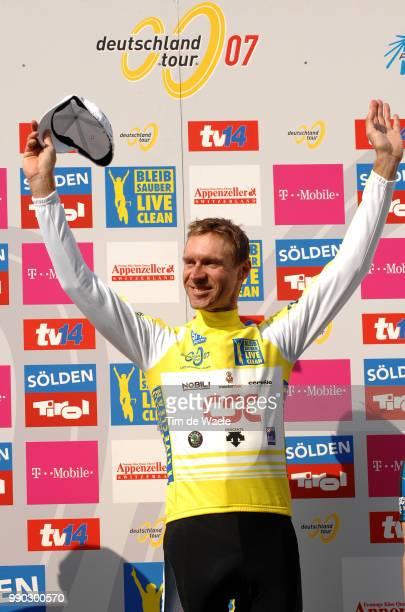 Tour Of Germany Stage 9Podium Lopez Garcia David Voigt Jens Yellow Jersey Leipheimer Levi Celebration Joie Vreugde /Einbeck Hannover Tour D'Allemagne...